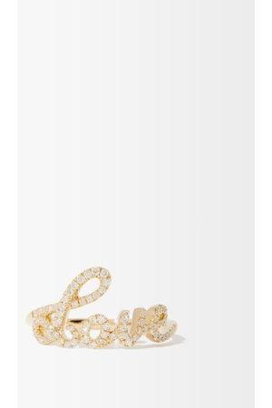 ROSA DE LA CRUZ Love Text Diamond & 18kt Ring - Womens
