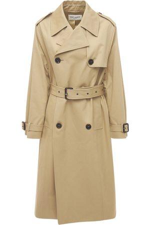 Saint Laurent Cotton Gabardine Chino Trench Coat