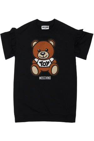 Moschino Cotton Sweat Dress W/ Toy Patch