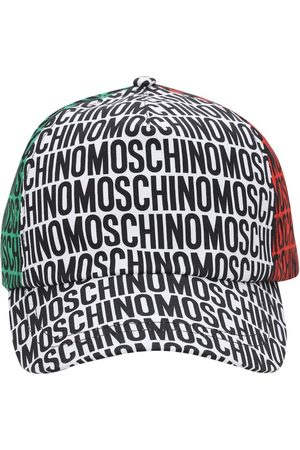 Moschino All Over Print Gabardine Baseball Hat
