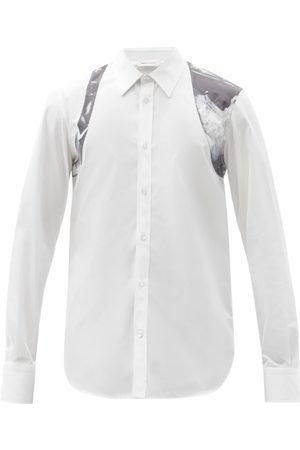 Alexander McQueen X-ray-print Harness Cotton-poplin Shirt - Mens