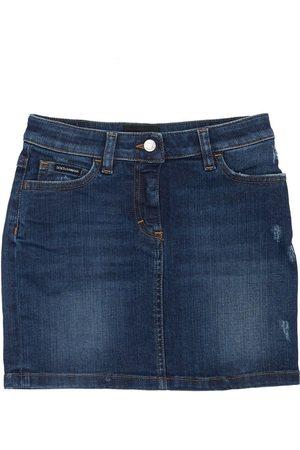 Dolce & Gabbana Girls Skirts - Cotton Skirt W/ Patch
