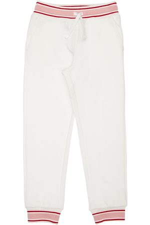 Dolce & Gabbana Girls Sweatpants - Cotton Sweatpants W/ Flower Appliqués