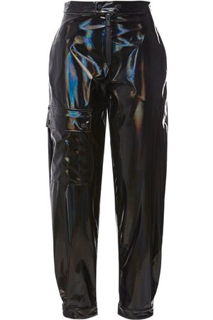 McQ Women Straight Leg Pants - Fantasma Patent Nylon Straight Pants