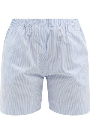 Rossell England Drawstring-waist Striped Cotton Pyjama Shorts - Womens - Stripe