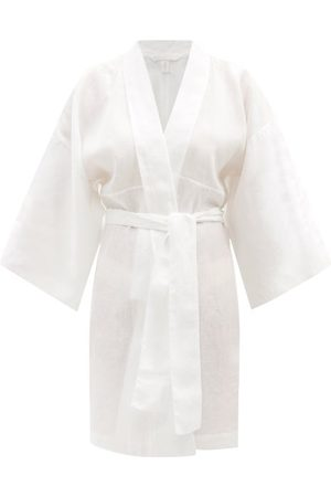 Rossell England Belted Linen Robe - Womens