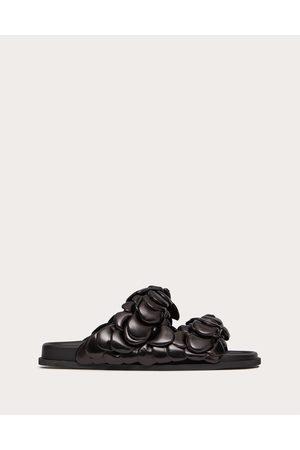 VALENTINO GARAVANI Men Sandals - Atelier Shoe Valentino Garavani Kidskin Slide Sandal With Petals Man Lambskin 100% 42