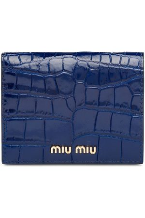 Miu Miu Women Wallets - Crocodile-effect wallet
