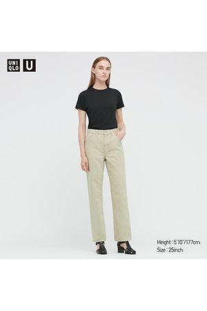 UNIQLO Women Straight - Women's U Regular-Fit Straight Jeans, Green, 23 in.