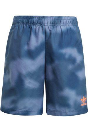 adidas Aop Pack Swim Short 128 cm Crew Blue / App Solar Red
