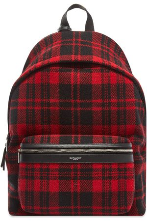 Saint Laurent City Tartan Backpack