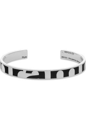 Le Gramme Brushed Ribbon Logo Bracelet Bold