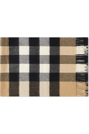 Burberry Men Scarves - Large Check Cashmere Scarf