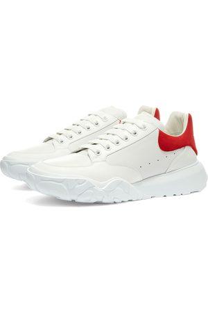 Alexander McQueen Suede Heel Tab Court Wedge Sole Sneaker