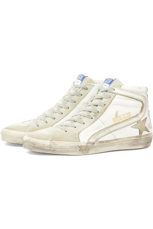 Golden Goose Men Sandals - Slide Leather Suede Hi Sneaker