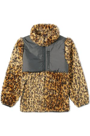 CLOT Leapard Print Faux Fur Puffer Jacket