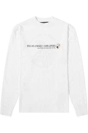 Palm Angels Long Sleeve Palm Airlines Tee