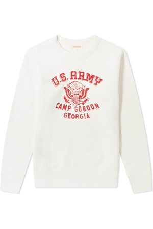 The Real McCoys Men Accessories - The Real McCoy's Camp Gordon Military Print Crew Sweat