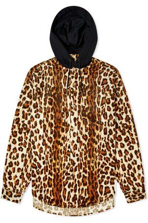 MASTERMIND Hooded Leopard Print Overshirt