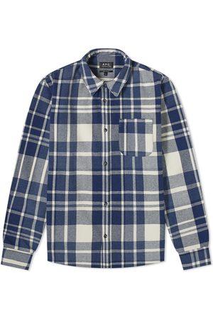 A.P.C. Trek Wool Flannel Overshirt