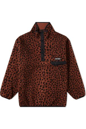 Wacko Maria Leopard Pullover Boa Fleece Jacket