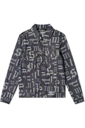 Palm Angels Men Denim Jackets - Broken Monogram Denim Jacket