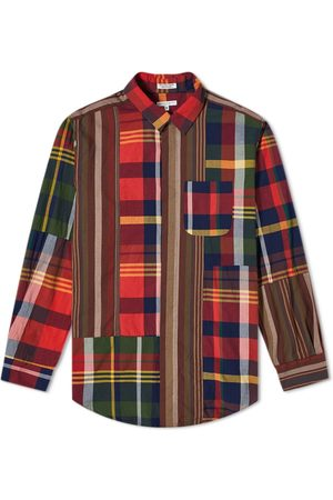 ENGINEERED GARMENTS Plaid Patchwork Combo Stripe Shirt