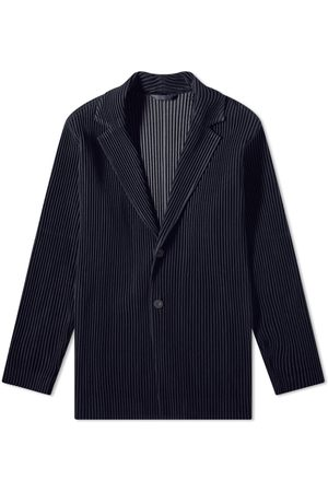 Homme Plissé Issey Miyake Pleated Single Breasted Jacket