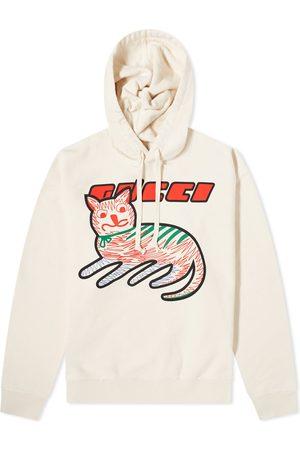Gucci Men Hoodies - Cat Logo Hoody