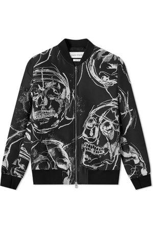 Alexander McQueen Men Bomber Jackets - Skulll Print Bomber Jacket