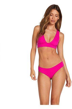 Volcom Women Bikinis - Simply Seam Cheeky Bikini Bottom XS Fuschia