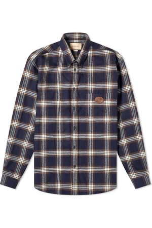 Gucci Checked Flannel Logo Shirt