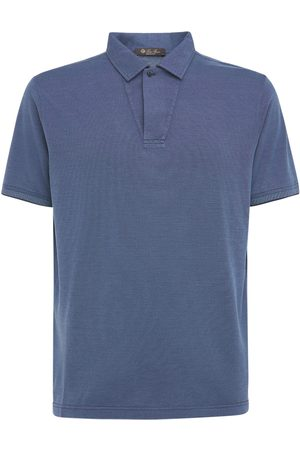 Loro Piana Cotton & Silk Piqué Polo