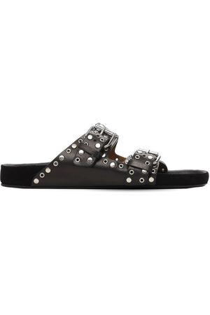 Isabel Marant 20mm Lennyo Leather Slide Sandals
