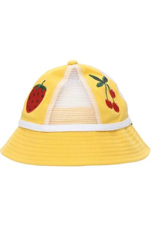 Mini Rodini Girls Hats - Strawberry Organic Cotton Hat