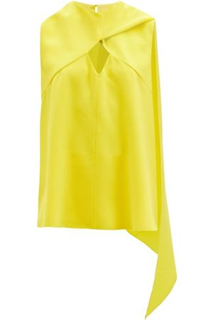 Roksanda Women Tops - Namida Draped-panel Crepe Top - Womens