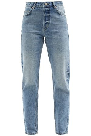 Raey Track High-rise Straight-leg Jeans - Womens - Light