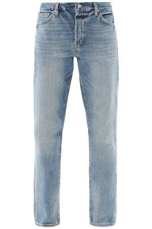 Frame Le Slouch High-rise Tapered-leg Jeans - Womens - Light Denim