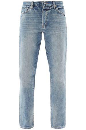 Frame Women High Waisted - Le Slouch High-rise Tapered-leg Jeans - Womens - Light Denim