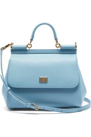 Dolce & Gabbana Sicily Medium Grained-leather Bag - Womens