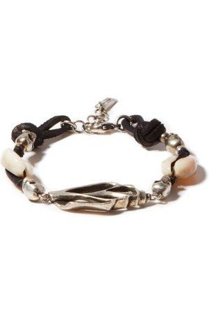 Saint Laurent Men Bracelets - Seashell And Skull Bracelet - Mens - Multi