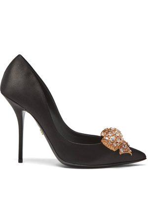 Dolce & Gabbana Women Heels - Crystal-bow Satin Pumps - Womens