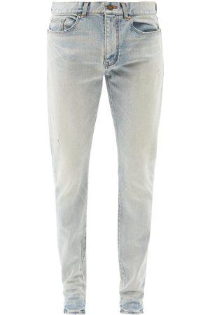 Saint Laurent Men Skinny - Washed Slim-leg Jeans - Mens