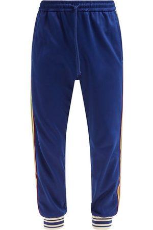 Gucci Logo-patch Web-stripe Jersey Track Pants - Mens