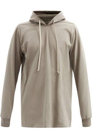 Rick Owens Men Hoodies - Longline Hooded Cotton-jersey Sweatshirt - Mens