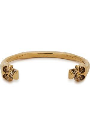 Alexander McQueen Men Bracelets - Twin Skull -tone cuff bracelet