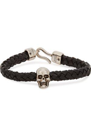 Alexander McQueen Skull braided leather bracelet