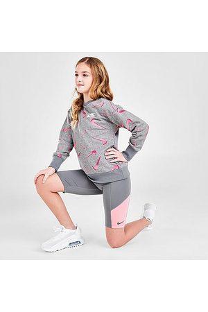 Nike Girls Shorts - Girls' Trophy Training Shorts in Grey/Smoke Grey Size Small 100% Polyester/Spandex