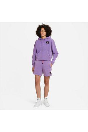 Jordan Women's Flight Fleece Shorts in /Wild Violet