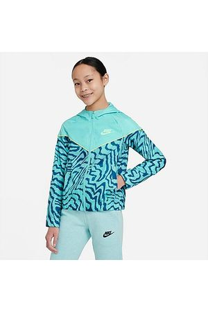 Nike Girls' Sportswear Printed Jacket in /Tropical Twist Size Small 100% Polyester